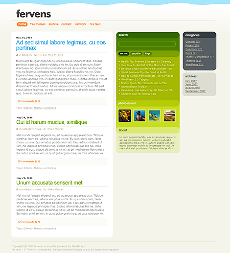 Fervens C WordPress Theme