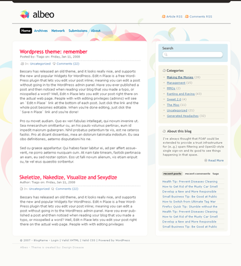 Albeo Theme  WordPress Theme