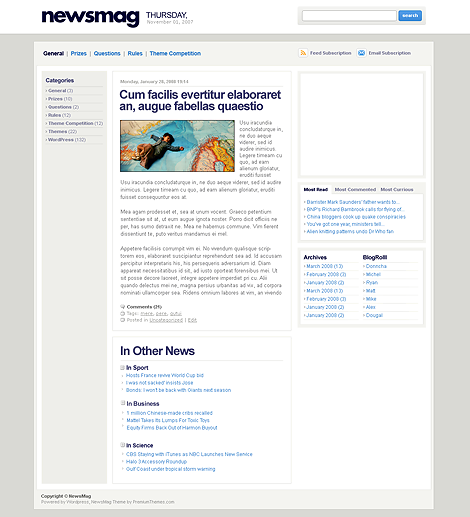 NewsmagPremium WordPress Theme