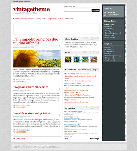 Vintage Premium WordPress Theme
