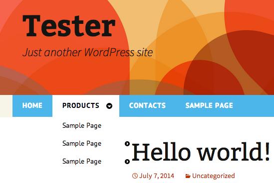 Wordpress Drop Down Menu