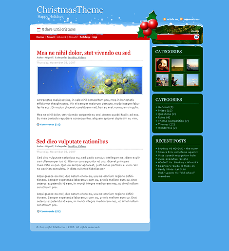 Christmas Days WordPress Theme