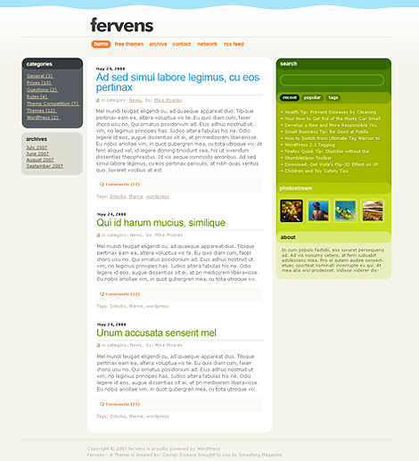 Fervens B WordPress Theme