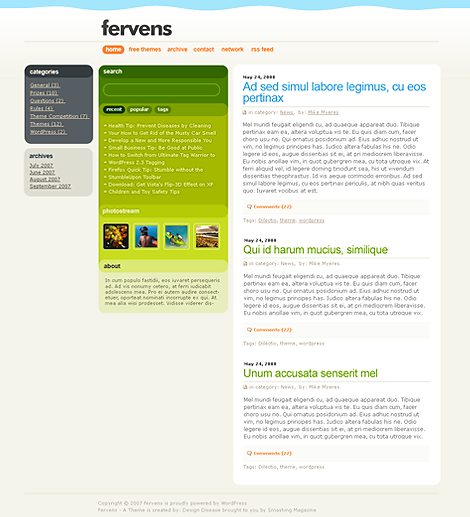 Fervens A WordPress Theme