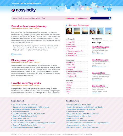 GossipCity WordPress Theme