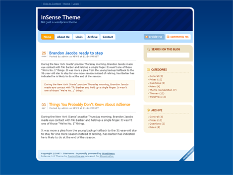 InSense WordPress Theme