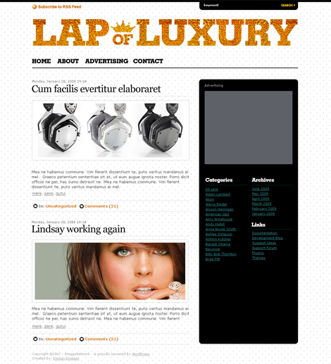 LapOfLuxury WordPress Theme