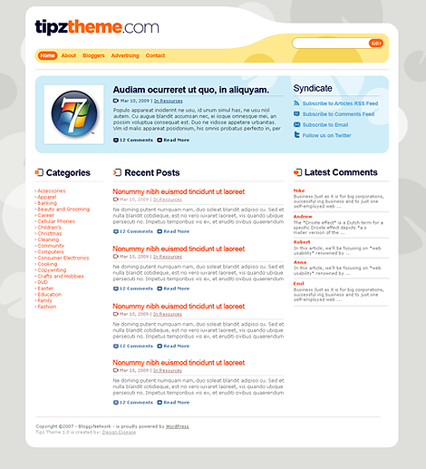 Tipz WordPress Theme