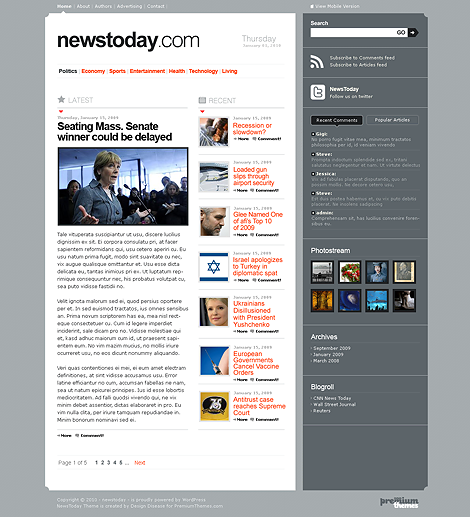 News Today Premium WordPress Theme