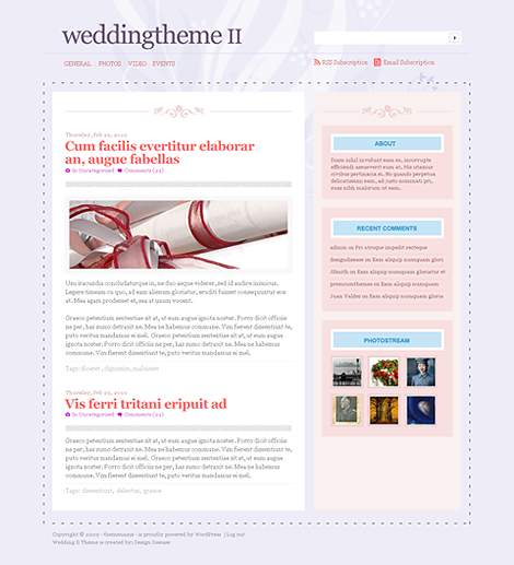 Wedding 2 Premium WordPress Theme