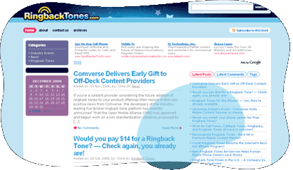 Ringback Tones - Blog Design