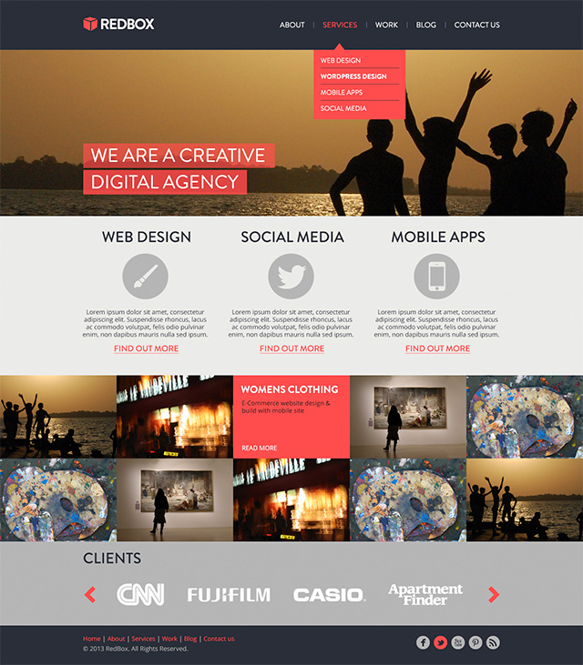 Create A RedBox Website Template Tutorial PSD DesignDisease - Create web page template