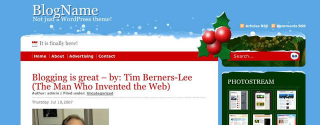 Christmas Free Days WordPress Theme