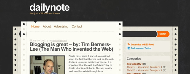 DailyNote Free WordPress Theme