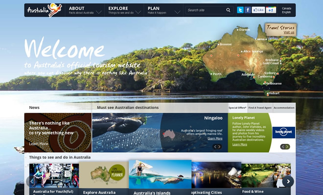 Inspiring Travel Tourism Website Designs